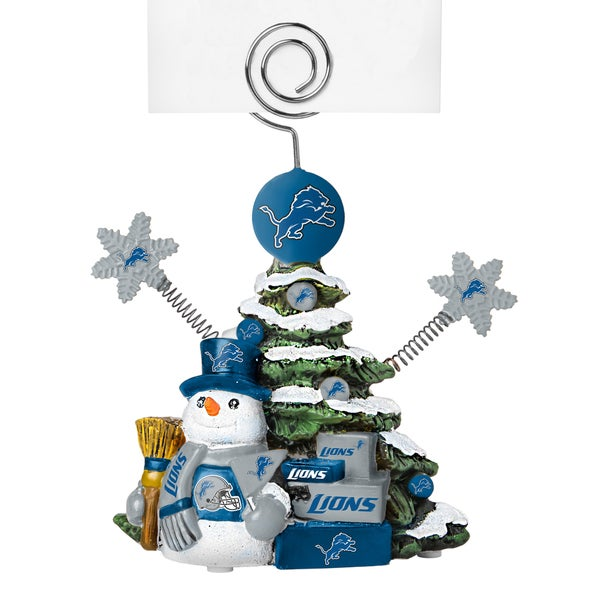 Detroit Lions Cast Porcelain Tree Photo Holder