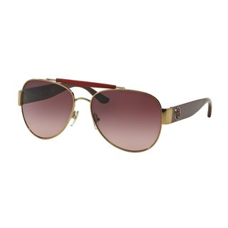 Tory Burch Women's TY6043Q Gold Metal Pilot Sunglasses