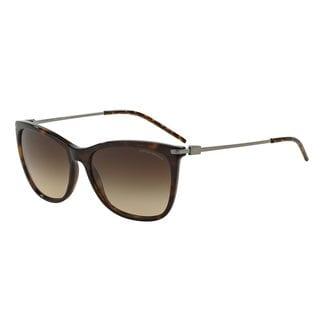 Emporio Armani Women's EA4051 Tortoise Plastic Square Sunglasses