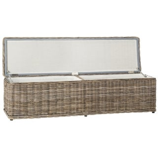 Safavieh Caius Grey Natural Rattan Storage Trunk