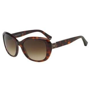 Emporio Armani Women's EA4052 Tortoise Plastic Square Sunglasses