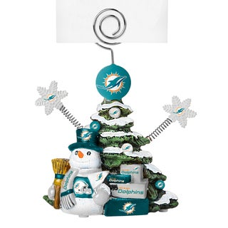 Miami Dolphins Cast Porcelain Tree Photo Holder