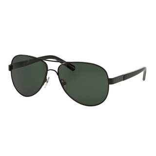 Tory Burch Women's TY6010 Black Metal Pilot Sunglasses