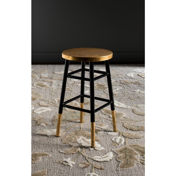 Shop Safavieh 24 Inch Emery Black Gold Counter Stool 13