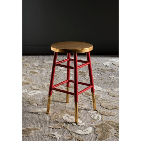 """Safavieh 24-inch Emery Red/ Gold Counter Stool - 13.5"""" x 13.5"""" x 24"""""""