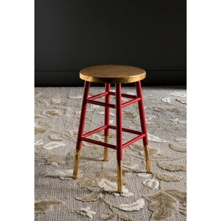 Safavieh 24-inch Emery Red/ Gold Counter Stool