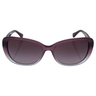 Ralph by Ralph Lauren Women's RA5203 1090T5 Black Plastic Cat Eye Polarized Sunglasses