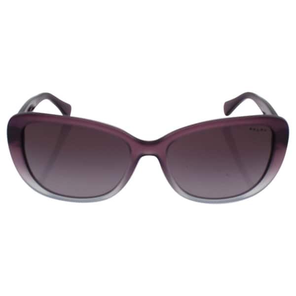 04d609a8ff32 ... Sunglass Non Polarized Iridium Cateye Spotty Havana Source · Shop Ralph  by Ralph Lauren Women s RA5203 1090T5 Black Plastic Cat