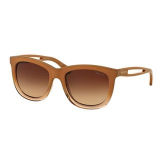 Ralph by Ralph Lauren Women's RA5205 Brown Plastic Square Sunglasses
