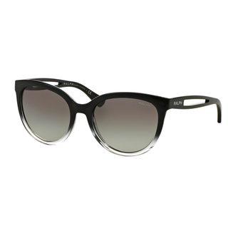 Ralph by Ralph Lauren Women's RA5204 Black Plastic Round Sunglasses