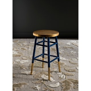 Safavieh 24-inch Emery Navy/ Gold Counter Stool