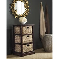 Safavieh Halle Cherry 3 Wicker Basket Storage Unit