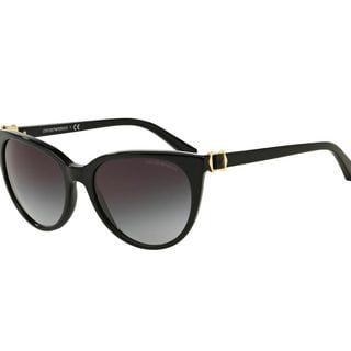 Emporio Armani Women's EA4057 Black Plastic Cat Eye Sunglasses