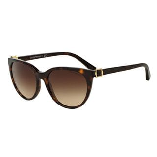 Emporio Armani Women's EA4057 Tortoise Plastic Cat Eye Sunglasses