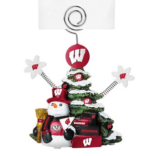Wisconsin Badgers Cast Porcelain Tree Photo Holder