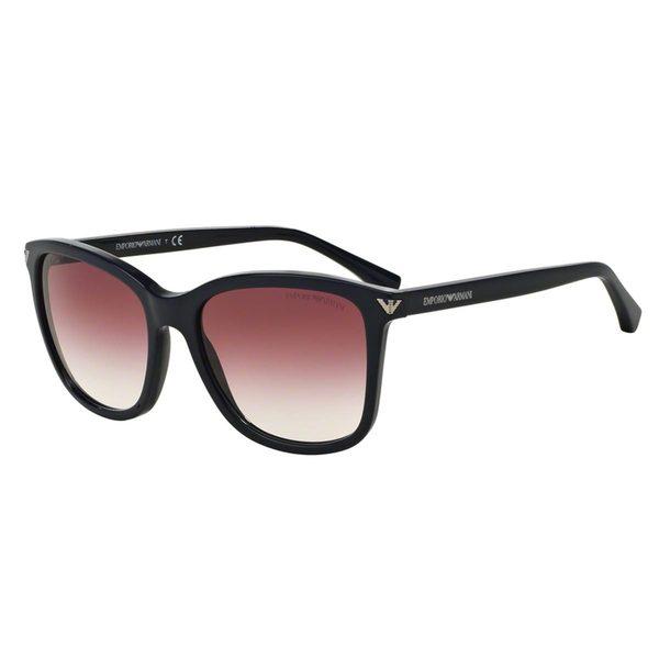 ffb383a488a9 Shop Emporio Armani Women s EA4060 Blue Plastic Square Sunglasses ...