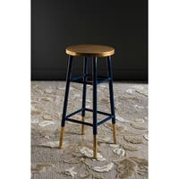 Safavieh 30-inch Emery Navy/ Gold Bar Stool