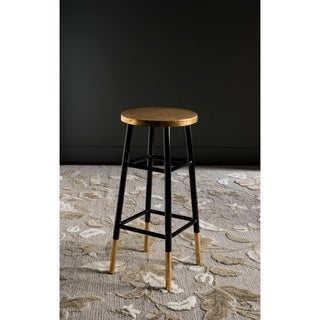 Safavieh 30-inch Emery Black/ Gold Bar Stool