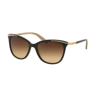 Ralph by Ralph Lauren Women's RA5203 Black Plastic Cat Eye Sunglasses