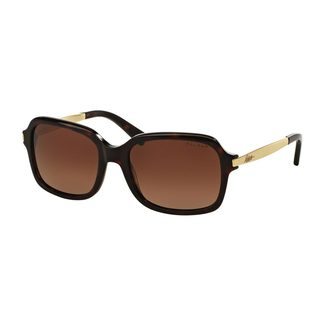 Ralph by Ralph Lauren Women's RA5202 Tortoise Plastic Rectangle Polarized Sunglasses