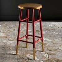 Safavieh 30-inch Emery Red/ Gold Bar Stool