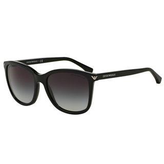 Emporio Armani Women's EA4060 50178G Black Plastic Square Sunglasses