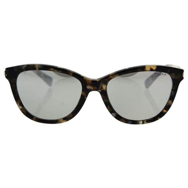 80c98cad05 Ralph by Ralph Lauren Women  x27 s RA5201 Brown Plastic Cat Eye Sunglasses
