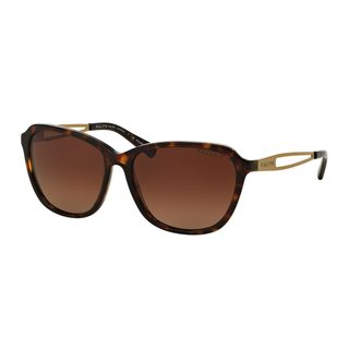 Ralph by Ralph Lauren Women's RA5199 1452T5 Tortoise Plastic Square Polarized Sunglasses