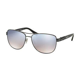 Coach Women's HC7056Q Silver Metal Pilot Sunglasses
