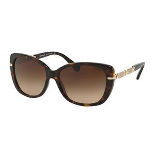 Coach Women's HC8131F Tortoise Plastic Cat Eye Sunglasses