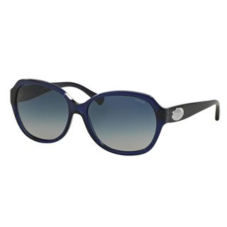 Coach Women's HC8150 Navy Plastic Square Sunglasses