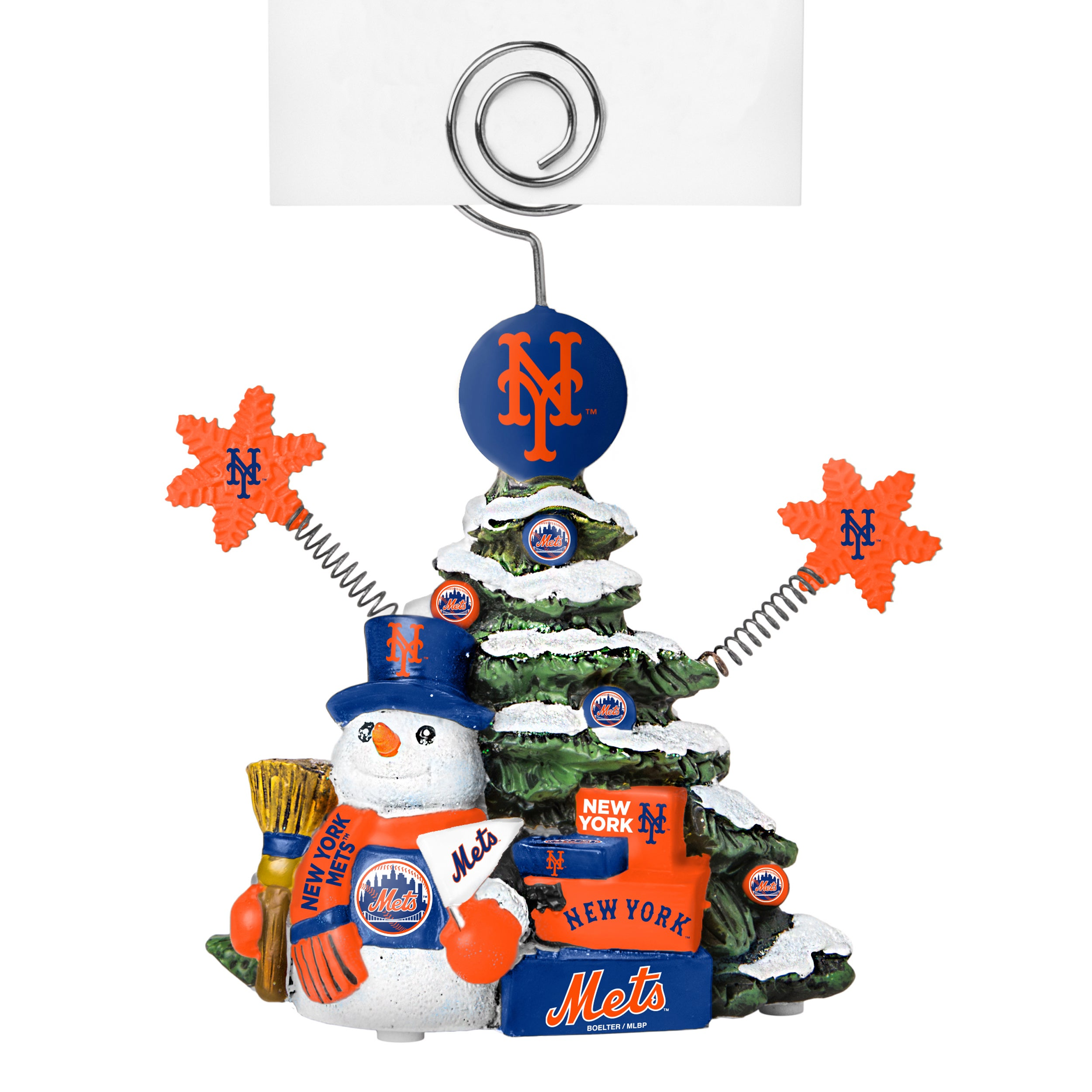BOELTER BRANDS New York Mets Cast Porcelain Tree Photo Ho...