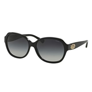 Coach Women's HC8150 Black Plastic Square Sunglasses