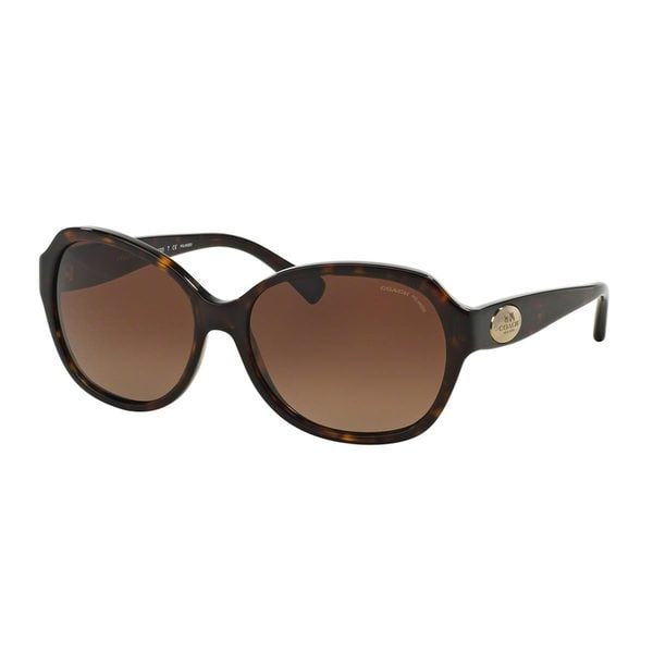 e94ecd4bb5 Shop Coach Women s HC8150 Tortoise Plastic Square Polarized Sunglasses -  Free Shipping Today - Overstock.com - 10857463