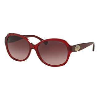 Coach Women's HC8150 Red Plastic Square Sunglasses