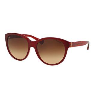 Ralph by Ralph Lauren Women's RA5197 Red Plastic Round Sunglasses
