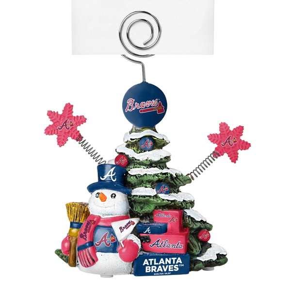 Atlanta Braves Cast Porcelain Tree Photo Holder