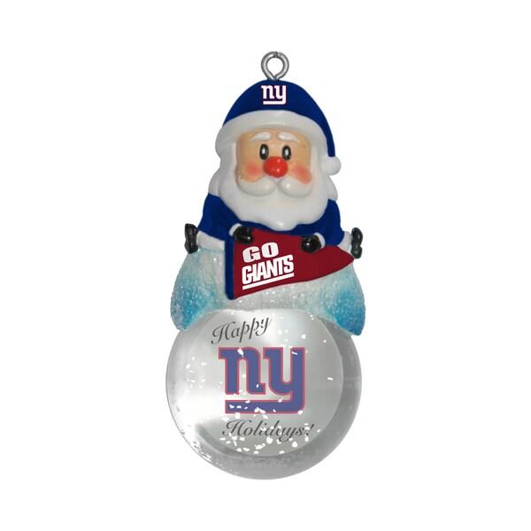 New York Giants Santa Snow Globe Ornament