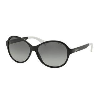 Ralph by Ralph Lauren Women's RA5192 Black Plastic Oval Sunglasses