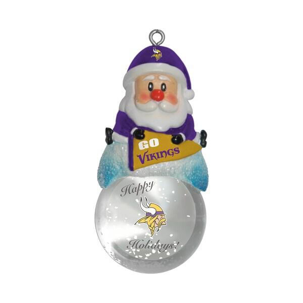Minnesota Vikings Santa Snow Globe Ornament