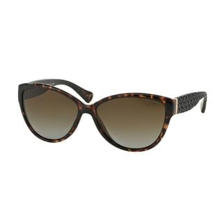 Ralph by Ralph Lauren Women's RA5176 Tortoise Plastic Cat Eye Polarized Sunglasses