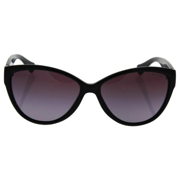 724a1aa99fa0 Ralph by Ralph Lauren Women's RA5176 Black Plastic Cat Eye Sunglasses