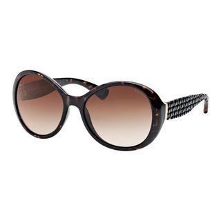 Ralph by Ralph Lauren Women's RA5175 Tortoise Plastic Round Sunglasses