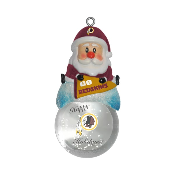 Washington Redskins Santa Snow Globe Ornament