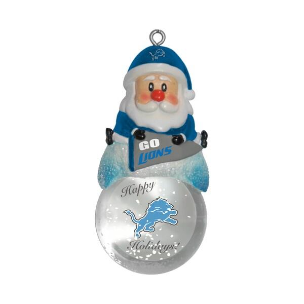 Detroit Lions Santa Snow Globe Ornament