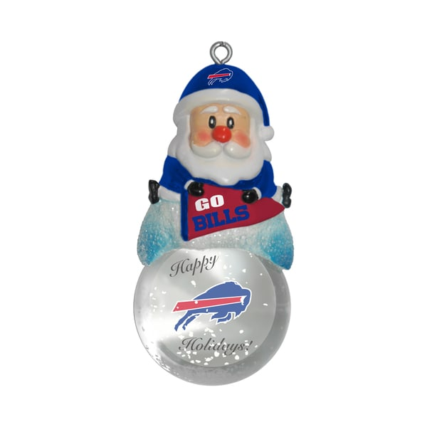 Buffalo Bills Santa Snow Globe Ornament