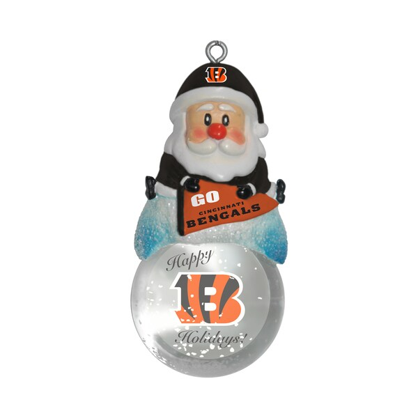 Cincinnati Bengals Santa Snow Globe Ornament