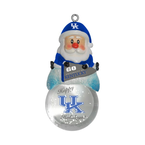 Kentucky Wildcats Santa Snow Globe Ornament