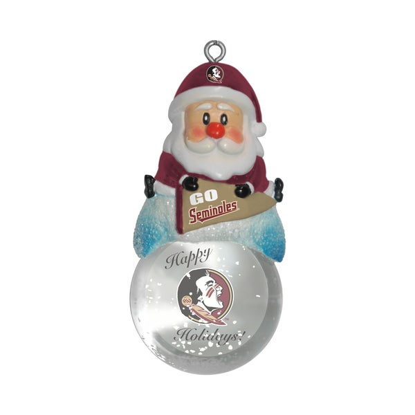 Florida State Seminoles Santa Snow Globe Ornament