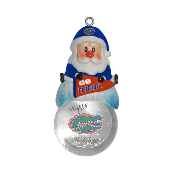 Florida Gators Santa Snow Globe Ornament